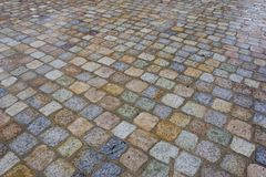 colors trottoar Royaltyfri Bild