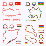 Colors of Turkey, Azerbaijan, Syria and Armenia Royalty Free Stock Photos