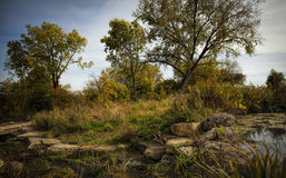 The colors are turning. Autumn at Coldwater Spring Park in Minneapolis, Minnesota Royalty Free Stock Image