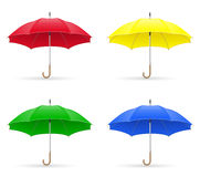 Colors umbrellas vector illustration Stock Image