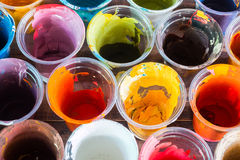 The colors used in the glass. Royalty Free Stock Images