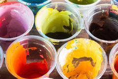 The colors used in the glass. Stock Photo