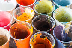 The colors used in the glass. Stock Photos