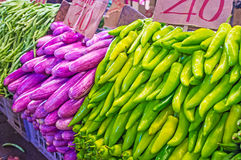 The colors of vegetable market Royalty Free Stock Photo