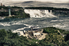 Colors and Vegetation of Niagara Falls Stock Images