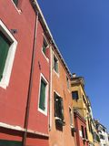 Colors in Venice - Venetian architecture Stock Photography