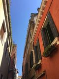 Colors in Venice - Venetian architecture Royalty Free Stock Image