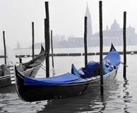 Colors of Venice, Water and Gondolas Royalty Free Stock Photo