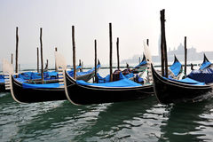 Colors of Venice, Water and Gondolas Stock Images