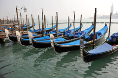 Colors of Venice, Water and Gondolas Stock Image