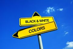 Colors vs Black and white royalty free stock image