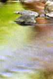 Colors of Water. Different colorful reflections in creek in the Spring with water movement Stock Photography