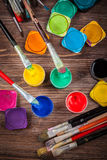 Colors, Watercolors and brushes Royalty Free Stock Image
