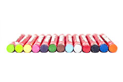 Colors of Wax crayons Stock Image