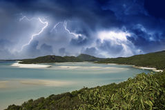 Colors of Whitehaven Beach, Australia Royalty Free Stock Images