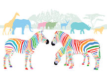 Colors of wild animals Royalty Free Stock Photography