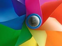 colors windmillen Royaltyfria Bilder