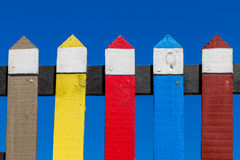 Colors Wood Fence Royalty Free Stock Images