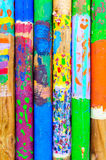 Colors wood stick kid painting Stock Photo