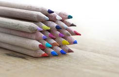 Colors wooden pencils Stock Photos
