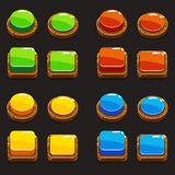 Colors wooden Push Buttons For A Game royalty free illustration