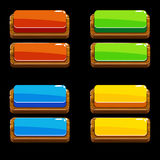 Colors wooden Push Buttons For A Game Royalty Free Stock Photos