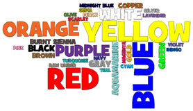 Colors Word Cloud Royalty Free Stock Images