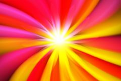 Colors zooming out of a flower shape background royalty free illustration