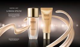 Colorstay makijaż w elegancki pakować na tle kropla podstawa Fotografia Stock