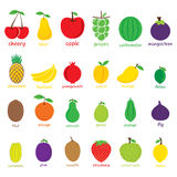 Colorufl fruit  design Stock Image