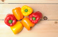 Colorul bell peppers Stock Photo