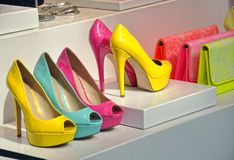 Colorul high heels Stock Photo