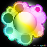 Colorul music bubble editable frame label vector Stock Photo