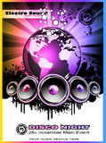 Colorul Music Event Discotheque Flyers. Abstract Colorul Music Event Background for Discotheque Flyers Stock Images