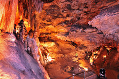 Colorful cave interior Stock Photos