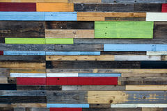 Colorul Wood Wall Royalty Free Stock Photos