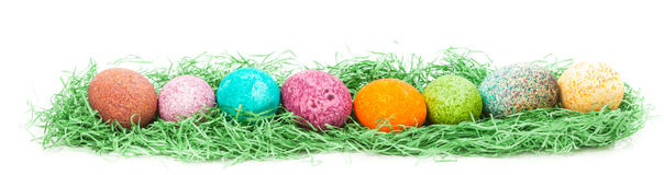 Colorulf Easter jajek gniazdeczko Zdjęcie Stock
