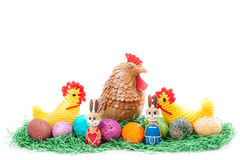 Colorulf easter nest Stock Photo