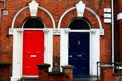 Colorured dörrar Arkivbilder
