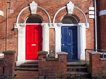 Colorured dörrar Fotografering för Bildbyråer