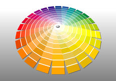 Colorwheel. Vector illustration of the color palette Royalty Free Stock Image