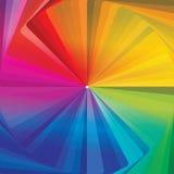 Colorwheel abstrakcjonistyczna koncentryczna tapeta ilustracja wektor