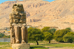 Colos of Memnon, Egypt. Egypt, Upper Egypt, Nile Valley, Gaugue bank of Thebes, about Luxor, Colossi of Memnon classified World Heritage royalty free stock images