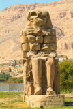 Colos of Memnon, Egypt. Egypt, Upper Egypt, Nile Valley, Gaugue bank of Thebes, about Luxor, Colossi of Memnon classified World Heritage royalty free stock photo