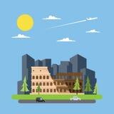coloseum意大利平的设计  免版税库存图片