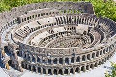 Coloseum罗马意大利微型微小 库存照片