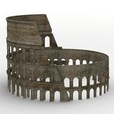 Coloseum. 3d render of coloseum ruins Stock Photography