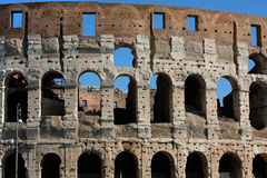 Coloseum against bright bluse sky in Rome Italy Stock Photo