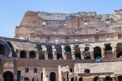 Coloseum. The Colosseum or Coliseum, also known as the Flavian Amphitheatre, is an elliptical amphitheatre in the centre of the city of Rome, Italy Royalty Free Stock Images