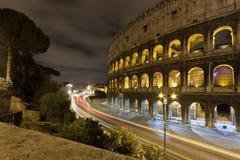 Coloseum en la noche Foto de archivo libre de regalías